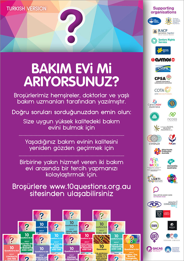 10 Questions poster - Turkish