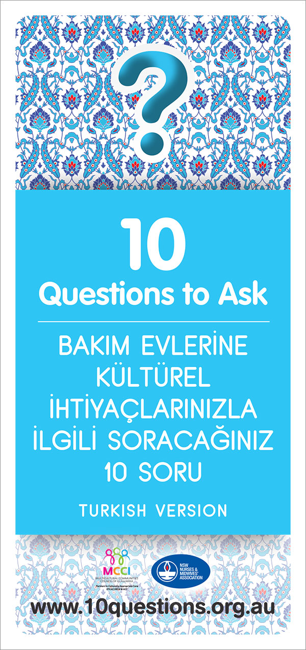 Cultural needs leaflet - Turkish